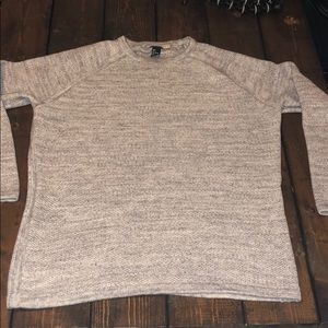 H&M Men's light gray mesh sweater size L